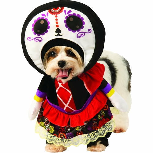 Walking Day Of The Dead Dress Pet Costume