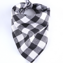 Load image into Gallery viewer, Washable Checker Print Dog Bandanas