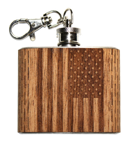 Load image into Gallery viewer, HandCrafted 2 oz. Wood Keychain Flask