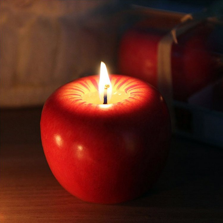 Realistic Apple Candle