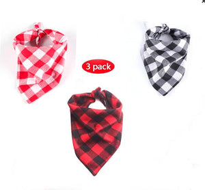Washable Checker Print Dog Bandanas