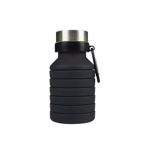 Portable Silicone Collapsible Water Bottle