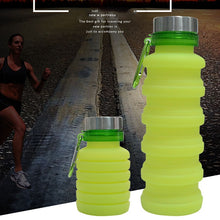 Load image into Gallery viewer, Portable Silicone Collapsible Water Bottle