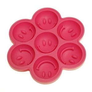 Smiling Face Smile Happy Ice Tray Ice Cubes DIY Mould Pudding Jelly Mold (referred To Water)