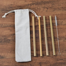 Load image into Gallery viewer, Ecofriendly Bamboo kit-toothbrush, straw, cutlery
