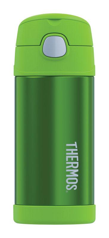 Thermos  FUNtainer  12 oz. Vacuum Insulated  Thermos Bottle  Lime