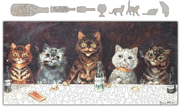 Cats Know How To Party Wooden Puzzle