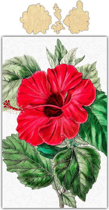 Hibiscus Vintage Drawing Jigsaw Puzzle
