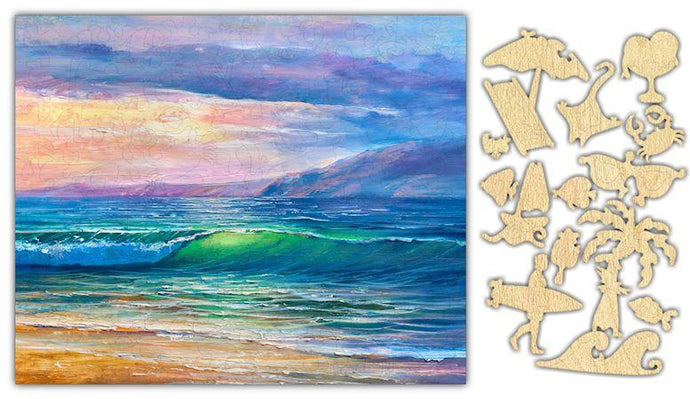 Beach Sunset Watercolor Jigsaw Puzzle