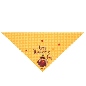 Turkey Thanksgiving Print Pet Bandana
