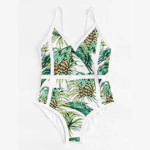 Sexy One-Piece Swimsuit Pineapple Print