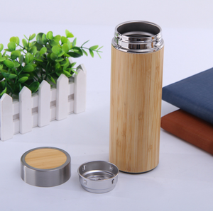 Stainless steel bamboo shell Thermos