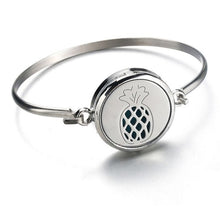 Load image into Gallery viewer, Aromatherapy Stainless Steel Pineapple Bracelet
