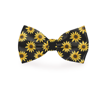 Load image into Gallery viewer, Black Sunflower Dog Bow Tie