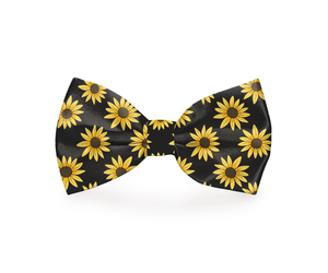 Black Sunflower Dog Bow Tie