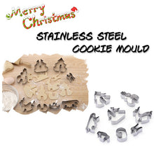 Load image into Gallery viewer, Christmas Cookie Cake Moulds Stainless Steel Cake