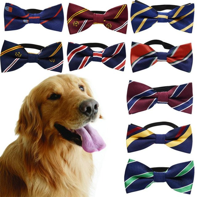 Classic Stripe Pet Dog Bow Tie