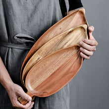 Load image into Gallery viewer, Wooden Leaf Platter