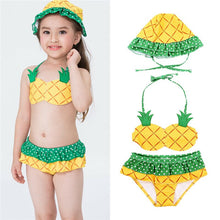 Load image into Gallery viewer, Toddler Pineapple Swimwear Two-Piece for Beach
