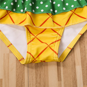Toddler Pineapple Swimwear Two-Piece for Beach