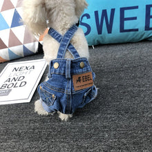 Load image into Gallery viewer, Denim Dog Overall Jeans Dog Costume