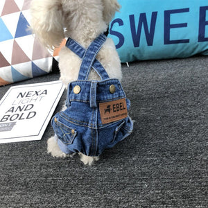 Denim Dog Overall Jeans Dog Costume