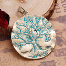 "Load image into Gallery viewer, Zinc Boho Chic Pendant - ""Tree Of Life"" - 2 PCs"