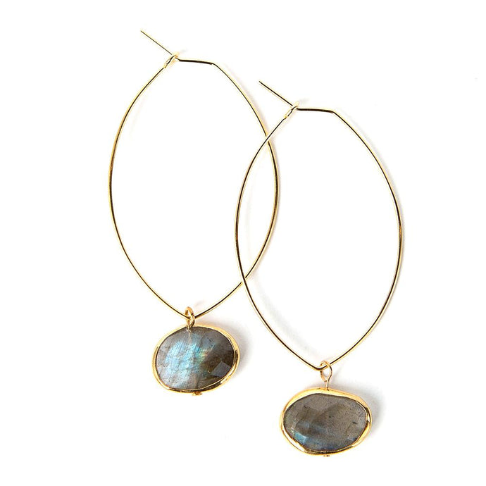 Handcrafted Ava Labradorite Earrings