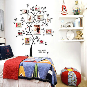 Family Tree Art Decals Wall Stickers Vinyl Photo Picture Frames Removable Wall Sticker Home Decor