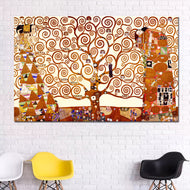 Gustav Klimt Tree of Life Canvas Painting Wall Art Prints Posters Classical Abstract Oil Paintings For Living Room Unframed