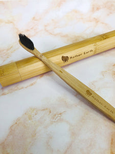 Bamboo Toothbrush + Bamboo crafted Travel Case