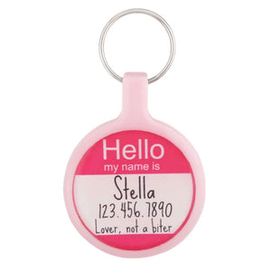 Hello My Name Is  Ecoplastic Pet ID Tag