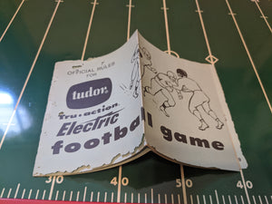 Tudor True Action Electric Football Game 1959 untested, full instructions