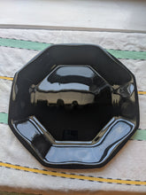Load image into Gallery viewer, Four (4) Black Arcoroc Octagon Dinner Plates, minor use
