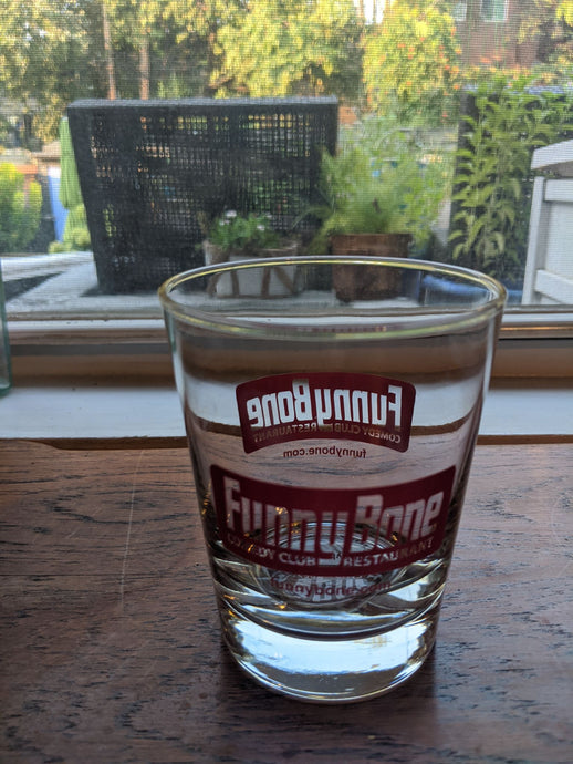 Funny Bone Comedy Club Rocks drinking glass