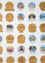 Load image into Gallery viewer, US National Parks Logo Scratch Poster (Gold)