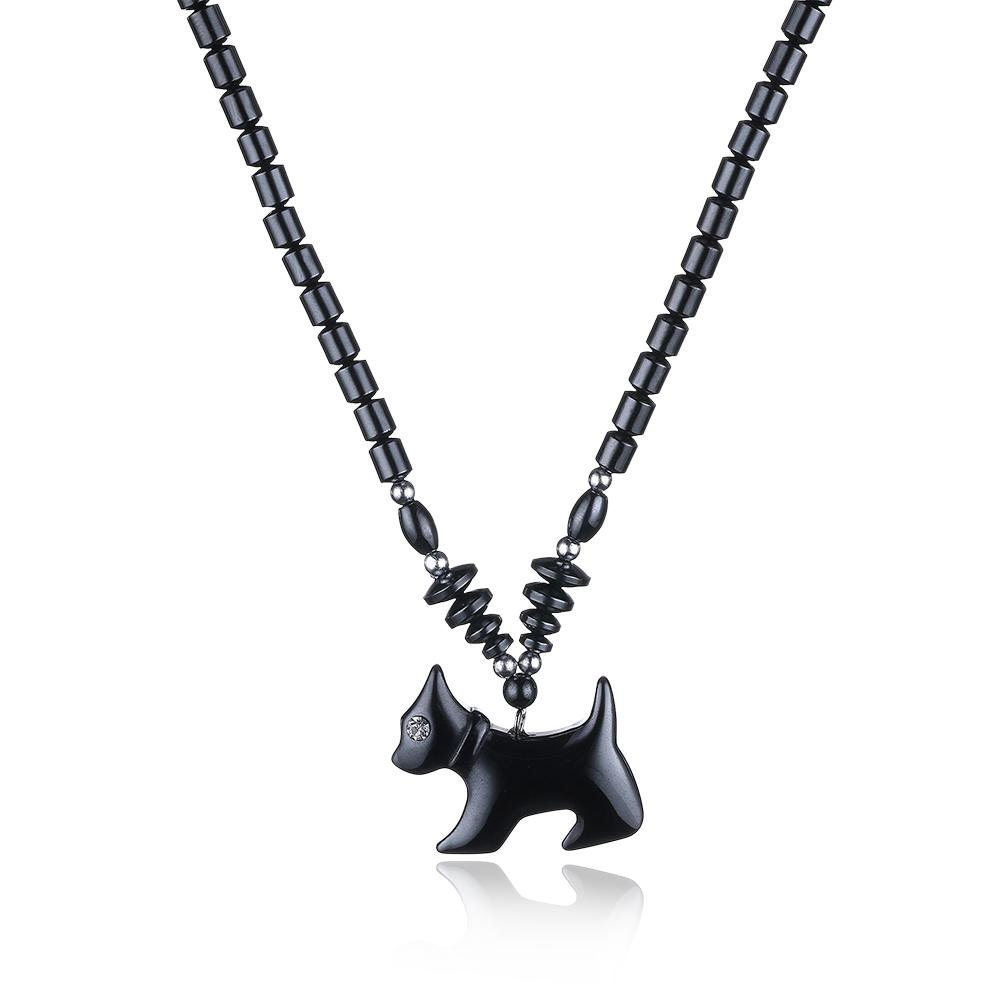 Natural Stone Dog Necklace