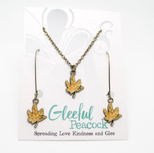 Load image into Gallery viewer, Maple Leaf Earring/Necklace Gift Set