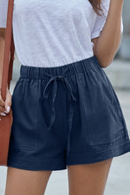 Load image into Gallery viewer, Navy Blue Strive Pocketed Tencel Shorts