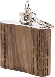 HandCrafted 2 oz. Wood Keychain Flask