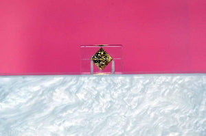 Pineapple Lucite Box Clutch