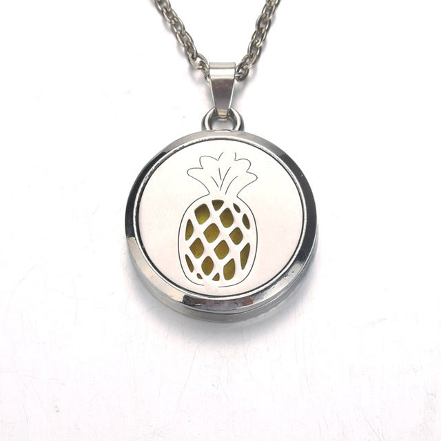 Aroma Diffuser Necklace (Pineapple & Tree of Life)