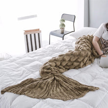 Load image into Gallery viewer, Handmade Soft Knitted Mermaid Tail Blanket