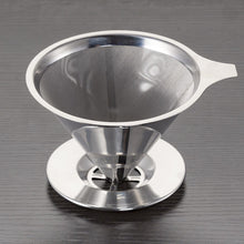 Load image into Gallery viewer, Reusable Stainless Steel Coffee Drip Filter