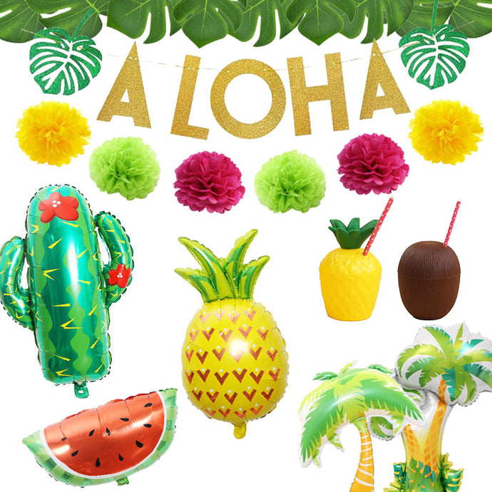 Tropical Hawaiian Party Decorations