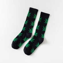 Load image into Gallery viewer, Unisex Cotton Short Socks Multicolor Pot Leaves