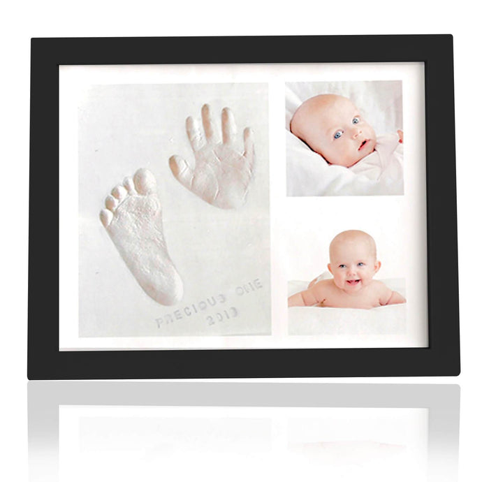 Baby Handprint Footprint Keepsake Photo Frame Kit (Onyx Black)