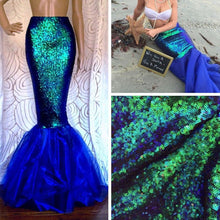 Load image into Gallery viewer, Sequin & Tulle Mermaid Tail Skirt