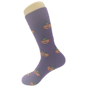 Witch Pumpkin Socks