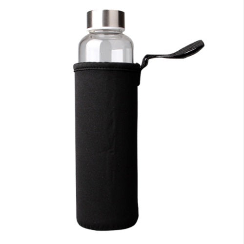 Basic Glass Water Bottle with Silver Screw Top